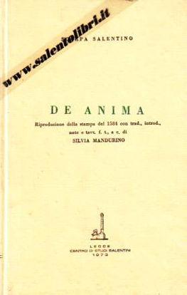 Immagine di De Anima (Ristampa anastatica)