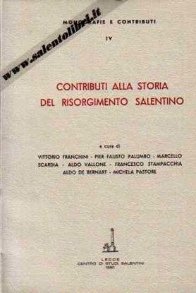 Immagine di Contributi alla storia del Risorgimento salentino