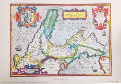Immagine di Graecia Maior (1595) Itala nan tellus  - STAMPA