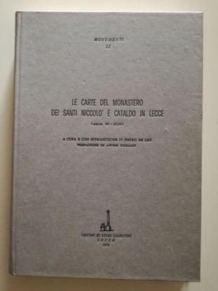 Immagine di LE CARTE DEL MONASTERO DEI SANTI NICCOLO` E CATALDO IN LECCE (SEC. XI E XVII)