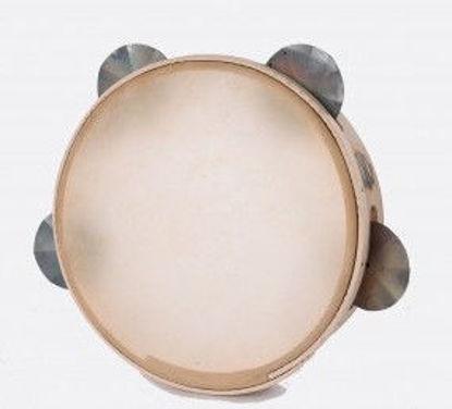 Immagine di Tamburello in legno cm 21 con sonagli TAMBURO A CORNICE VINCHIU